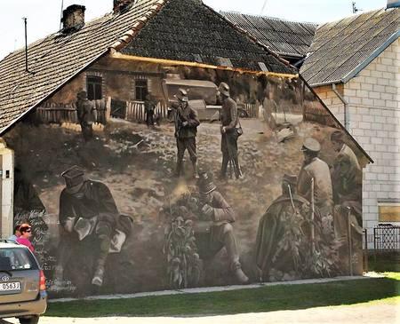 Wizna. Jedna z prac stworzonych przez Gdańską Szkołę Muralu